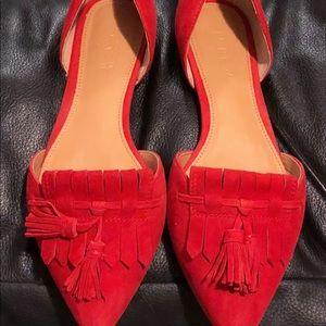 Jcrew Red flats